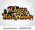 vector. happy halloween. | Shutterstock .eps vector #160495235