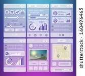 user interface elements for... | Shutterstock .eps vector #160496465