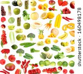 collection of fruits and... | Shutterstock . vector #160498178