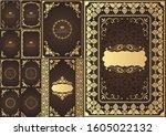 set of vintage design elements. ... | Shutterstock .eps vector #1605022132