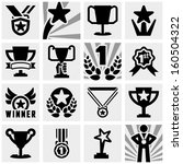 awards vector icons set on... | Shutterstock .eps vector #160504322