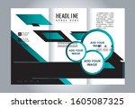 brochure design template vector ... | Shutterstock .eps vector #1605087325