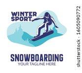 winter sport design  ... | Shutterstock .eps vector #1605090772
