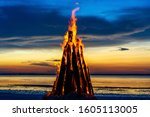 The Big Fire Burns Against The...