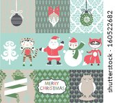 set of christmas and new year... | Shutterstock .eps vector #160522682
