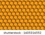 honeycomb bee hexagon style... | Shutterstock .eps vector #1605316552