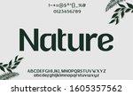 nature orgamoc typeface sans...   Shutterstock .eps vector #1605357562
