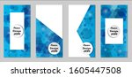 modern tech covers with blue...   Shutterstock .eps vector #1605447508