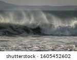 A Large Stormy Breaking Wave
