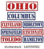 set of ohio cities stamps on...