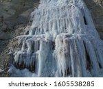 Ice Climbing Frozen Waterfall...