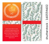 vector christmas card with red... | Shutterstock .eps vector #160554602
