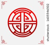 the chinese lucky symbol logo... | Shutterstock .eps vector #1605546502
