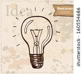 light hand drawn. vintage style ... | Shutterstock .eps vector #160554686