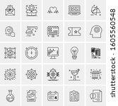 set of 25 universal business... | Shutterstock .eps vector #1605560548