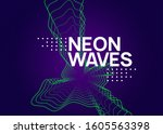 edm flyer. dynamic fluid shape...   Shutterstock .eps vector #1605563398