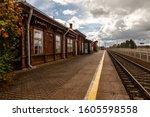 Retro Train Station Next To A...