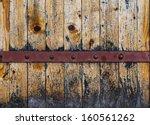wooden background with metal... | Shutterstock . vector #160561262