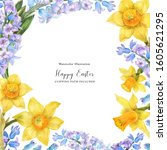 Spring Watercolor Frame With...
