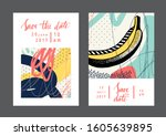 set of creative universal cards ...   Shutterstock .eps vector #1605639895