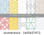 simple geometric texture.... | Shutterstock .eps vector #1605657472
