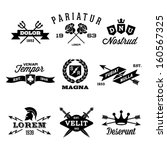 vintage labels with shield ...   Shutterstock .eps vector #160567325