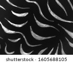 monochrome trendy zebra print.... | Shutterstock . vector #1605688105