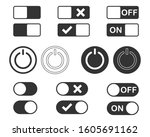 off and on power button vector...