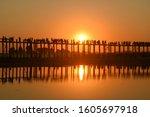 mandalay view bridge sunset in nikon