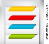 Empty colorful paper tags or bookmarks for eshop items - new, sa