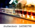 bartender pouring strong... | Shutterstock . vector #160580798