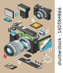 exploding camera vector insides ... | Shutterstock .eps vector #160584866