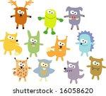 vector set of wood wild animals ... | Shutterstock .eps vector #16058620