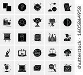 set of 25 universal business... | Shutterstock .eps vector #1605864958