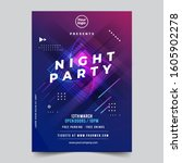 dance club night party flyer...