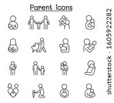 parent   family icon set in... | Shutterstock .eps vector #1605922282