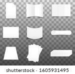set of realistic paper mockup... | Shutterstock .eps vector #1605931495