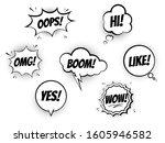 set of speech bubbles for... | Shutterstock .eps vector #1605946582