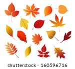 autumnal red  yellow and brown... | Shutterstock .eps vector #160596716