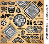 set of ornamental indian... | Shutterstock .eps vector #160598075