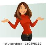 smiling girl | Shutterstock .eps vector #160598192