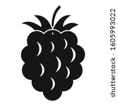 raspberry food icon. simple... | Shutterstock .eps vector #1605993022