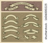 retro banner vector set ... | Shutterstock .eps vector #1606000225
