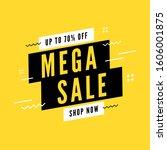 mega sale special offer. end of ... | Shutterstock .eps vector #1606001875