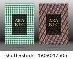 arabesque pattern vector cover... | Shutterstock .eps vector #1606017505