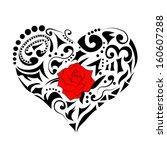 abstract floral heart | Shutterstock . vector #160607288