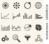 big data icon  business... | Shutterstock .eps vector #160608116