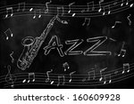 Jazz Saxophone Drawing On...