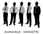 silhouettes of businessmen with ... | Shutterstock .eps vector #160610792