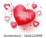happy valentines day vector...   Shutterstock .eps vector #1606122898